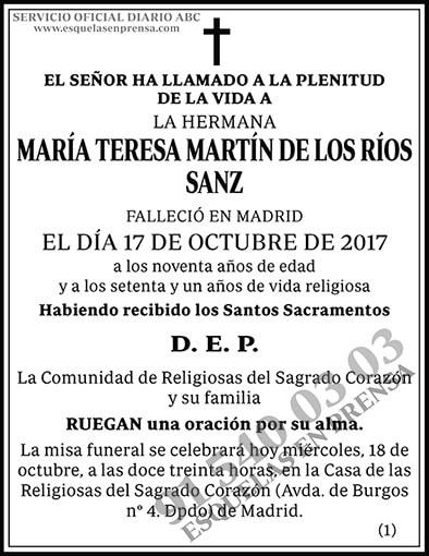 María Teresa Martín de los Ríos Sanz